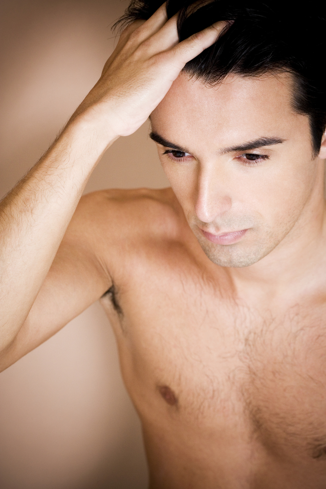 male hair loss patient